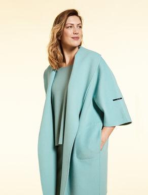 Manteau court en laine double