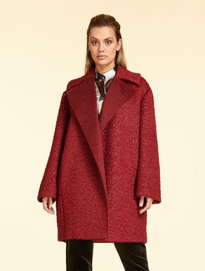 Astrakhan-effect mohair coat