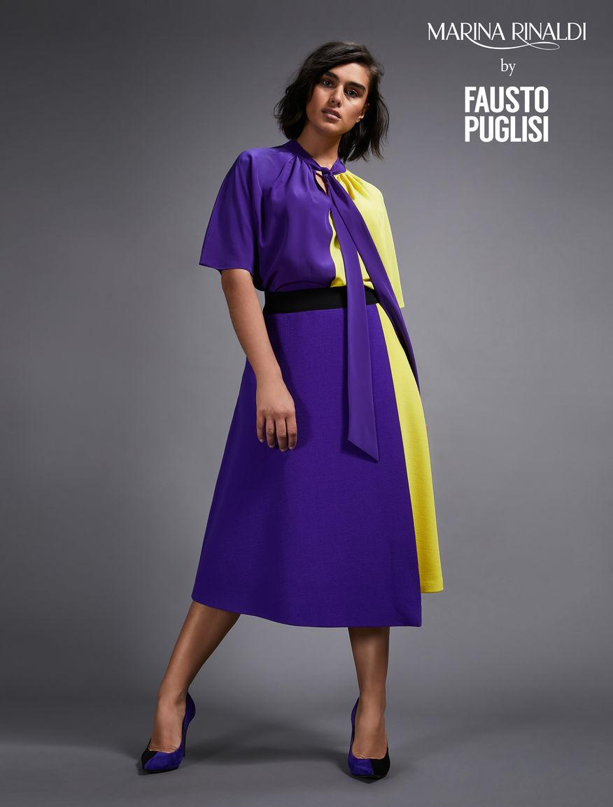 Wool crepe skirt