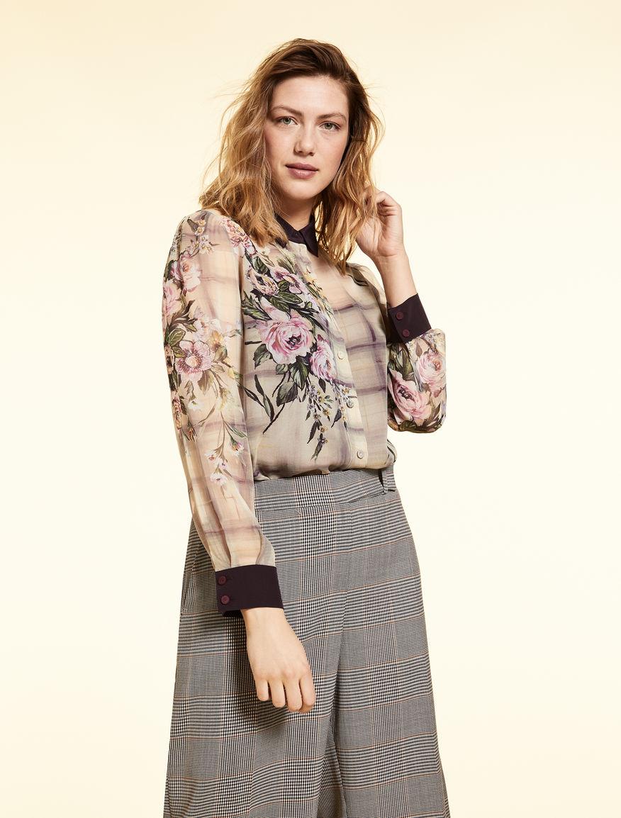 Silk georgette shirt