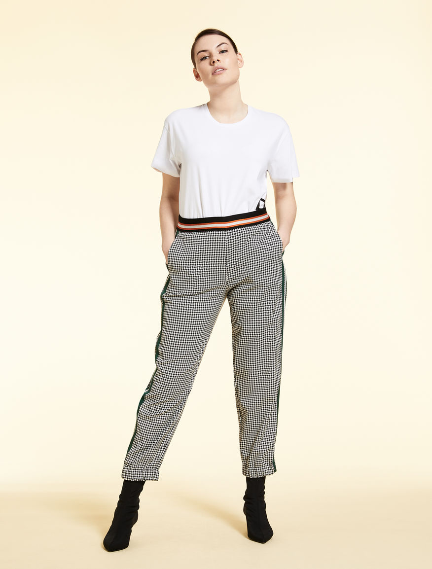 Jacquard jogging trousers