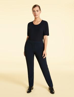 Straight-cut triacetate trousers