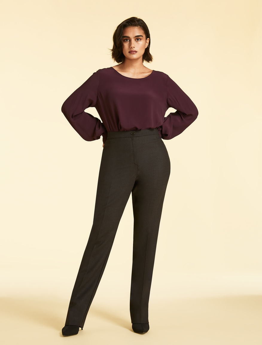 Wool double-cloth trousers