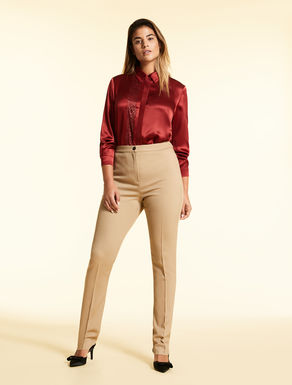 Viscose and wool trousers