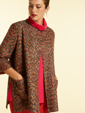 Multicolour basketweave jacket