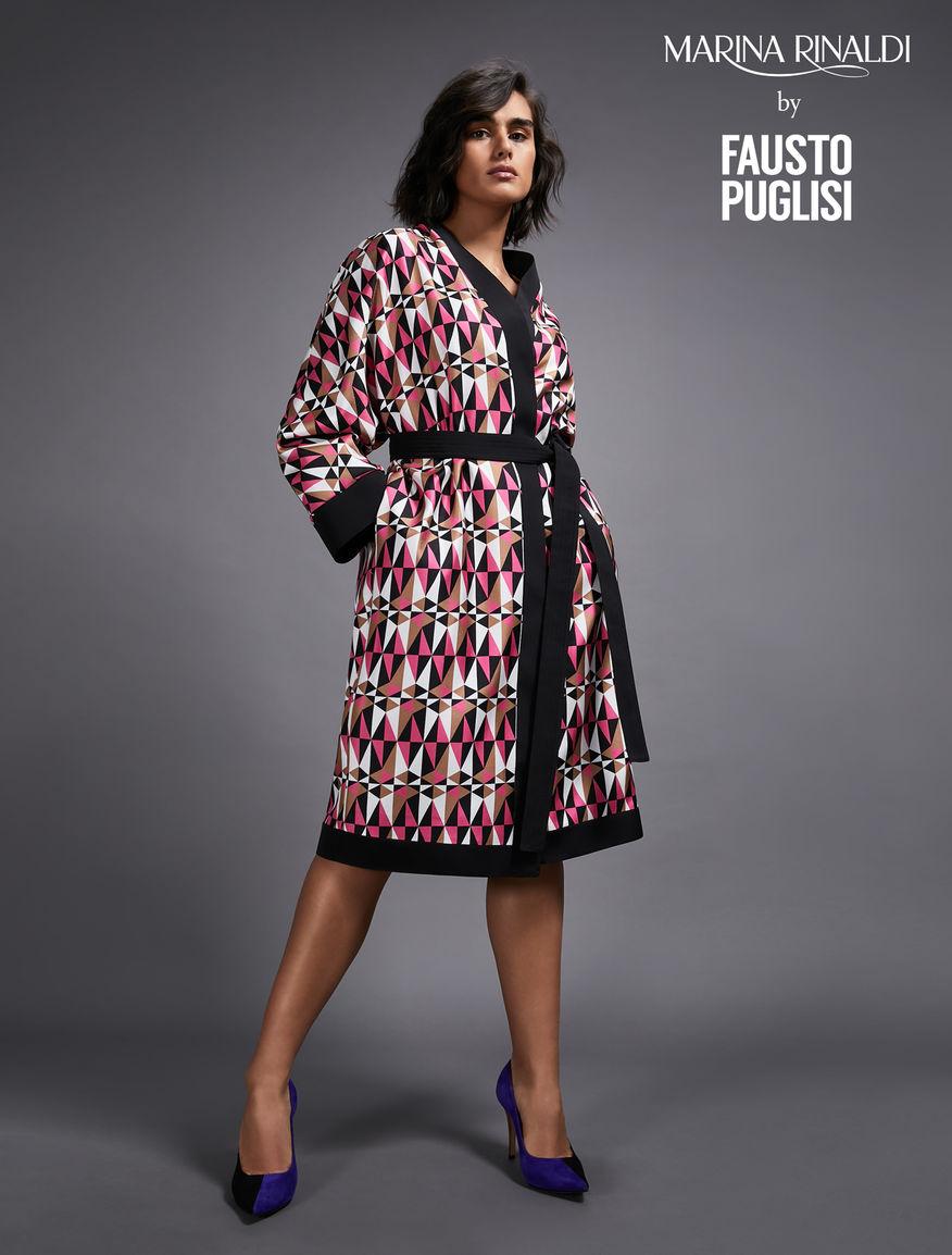 Reversible silk duster coat
