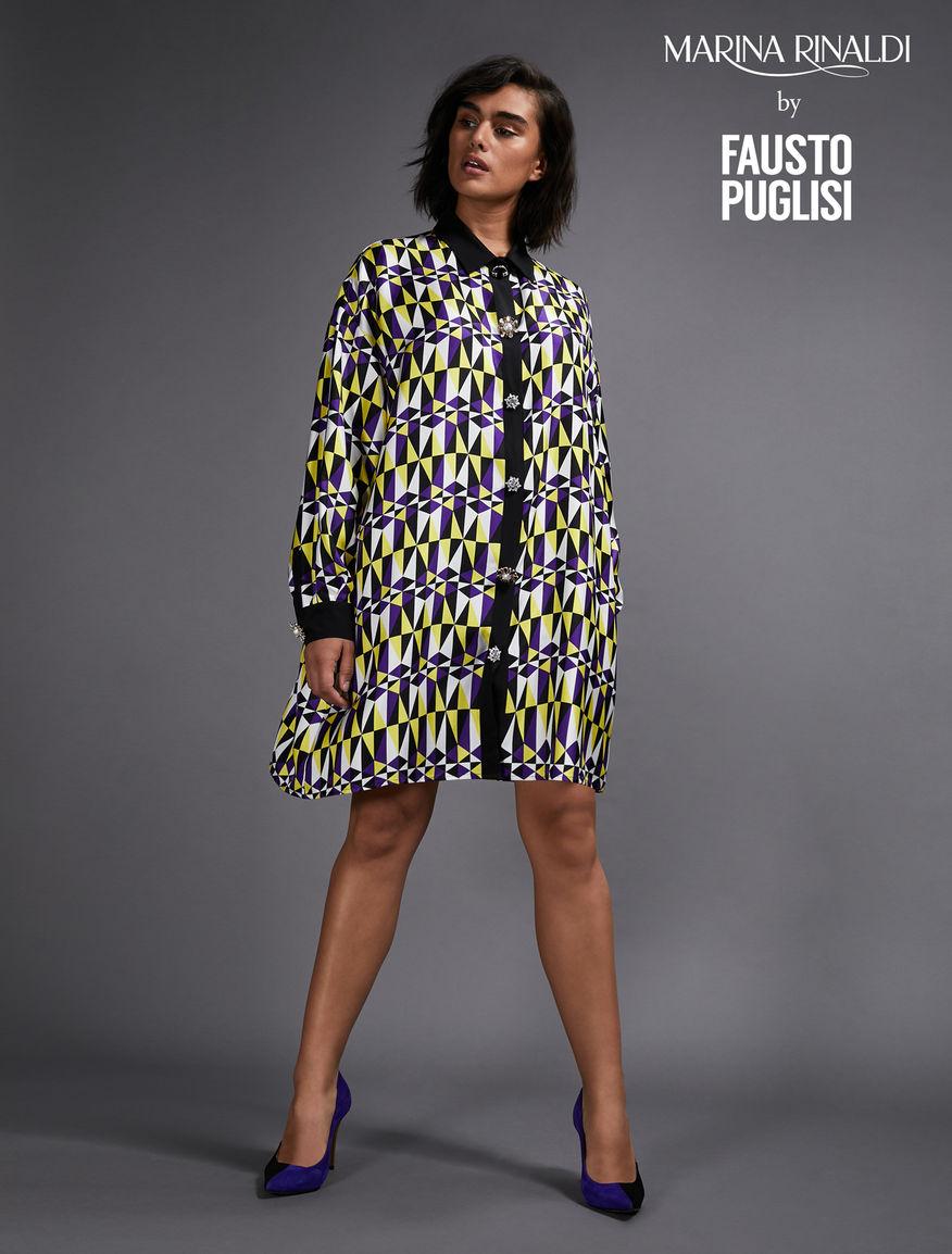 Silk shirt dress