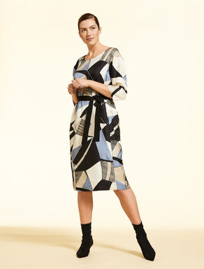 Silk twill dress