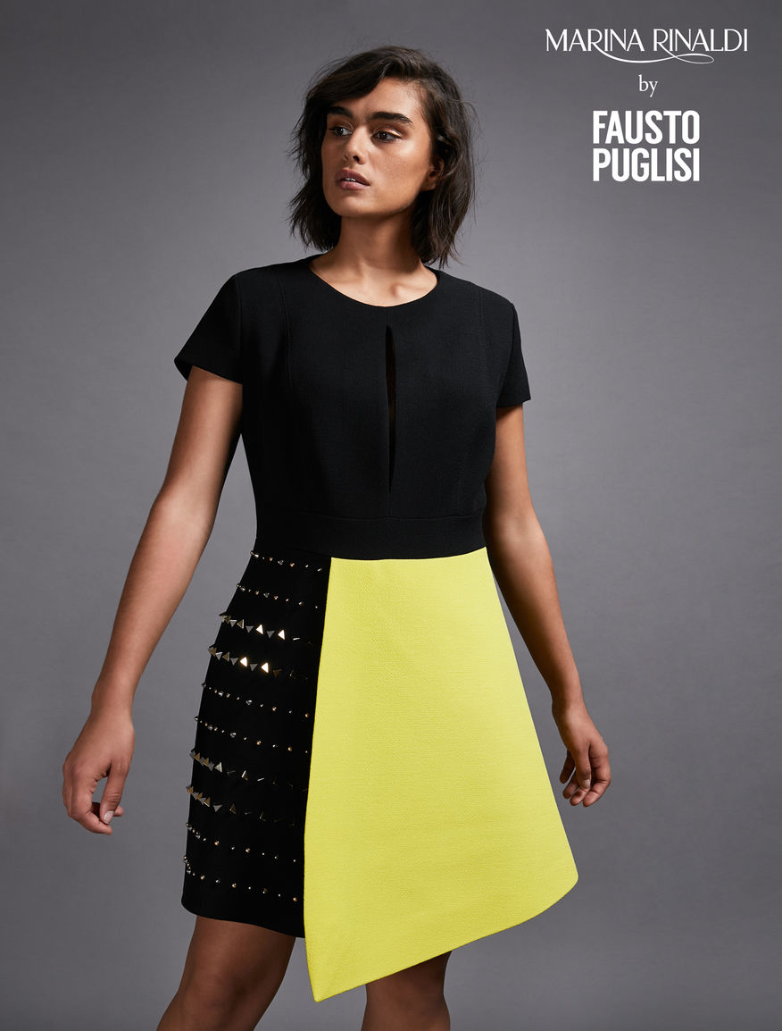 Pure wool crepe dress