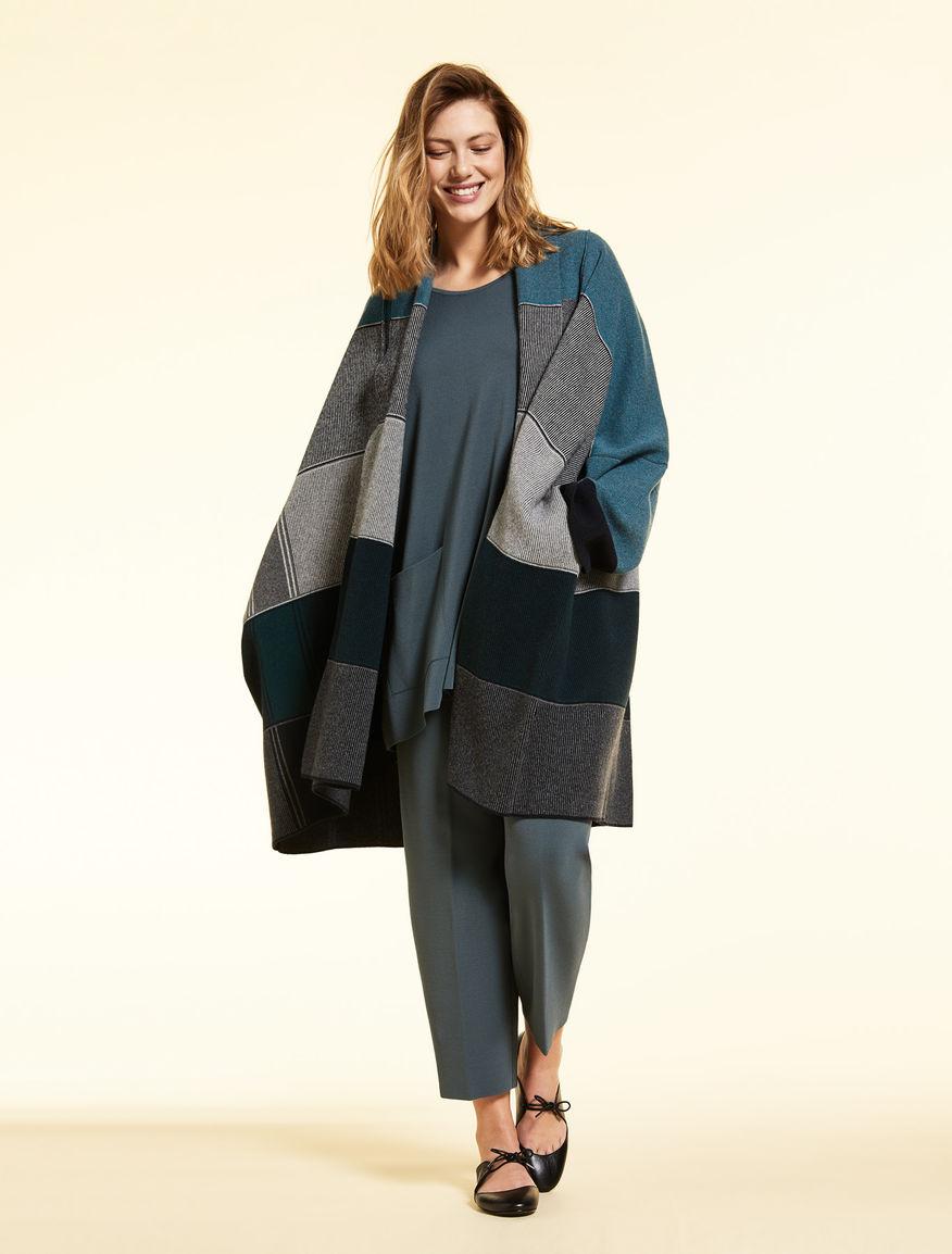 Abrigo de lana jacquard