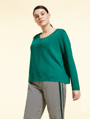 Silk and cotton jumper