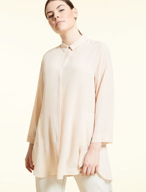 Long silk shirt