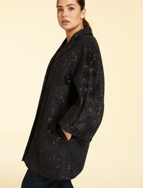 Manteau en chenille jacquard