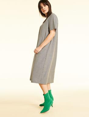 Technical wool dress