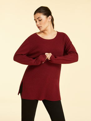 Long wool and cashmere jumper