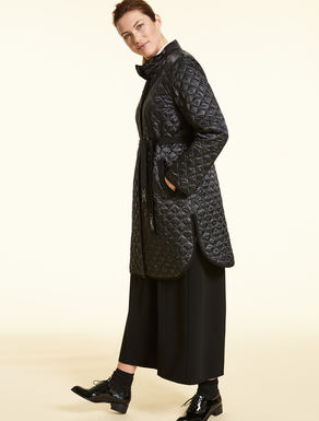 Quilted satin down coat