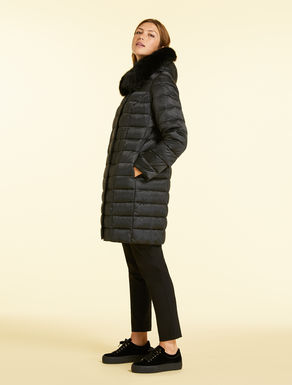 Satin down coat