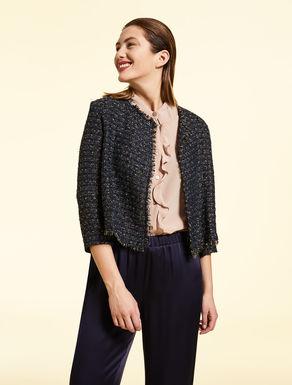 Basketweave lurex jacket