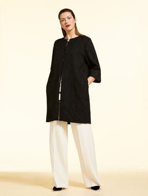 Jacquard duster coat