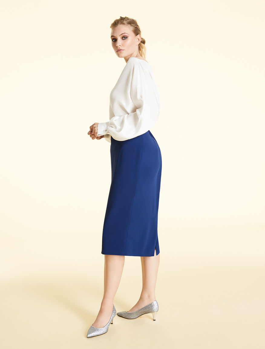 Skirt in envers satin crêpe