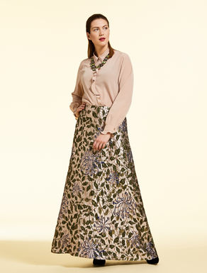 Long jacquard skirt