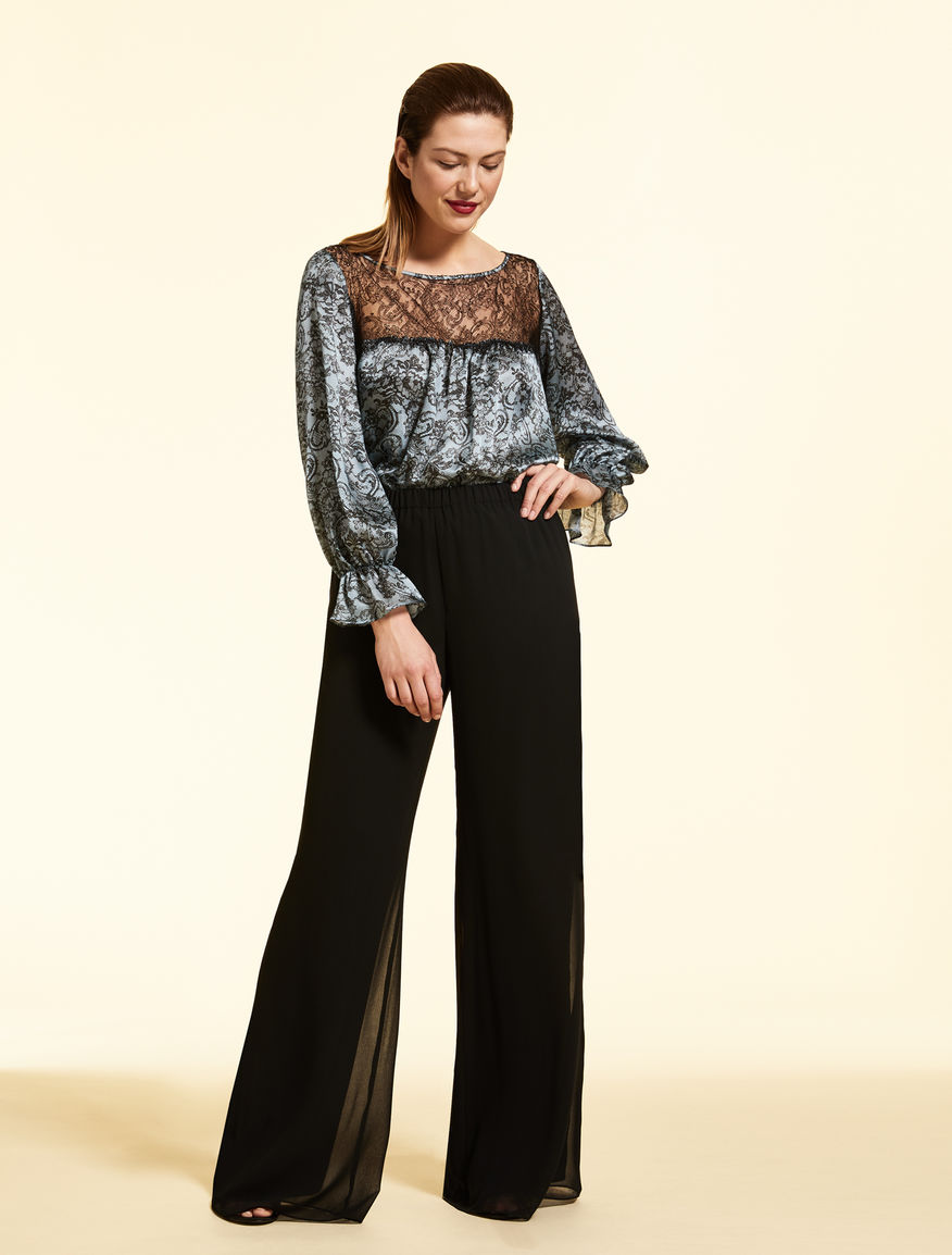 Pantaloni in georgette