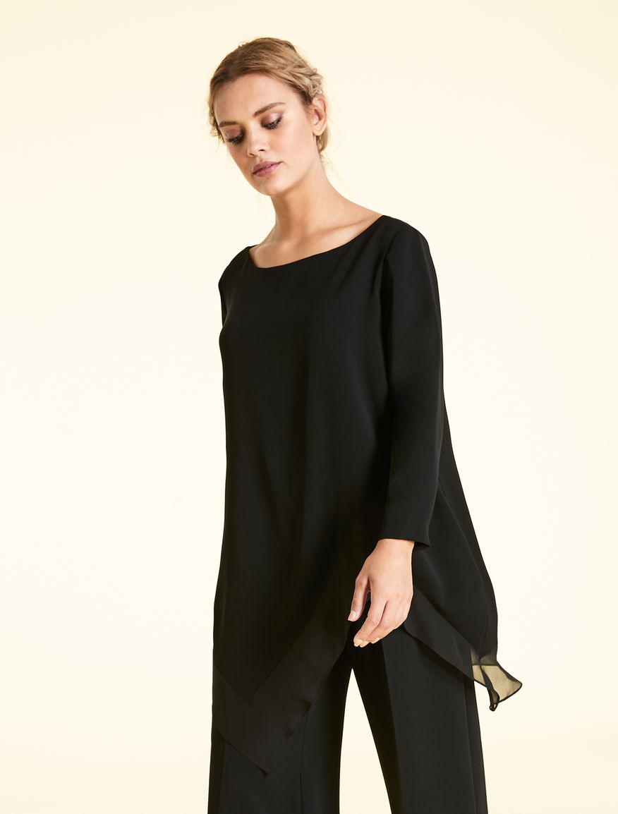 Triacetate and silk tunic
