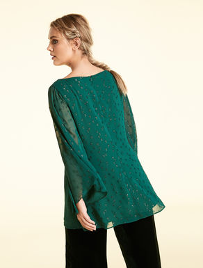 Lurex fil coupé tunic