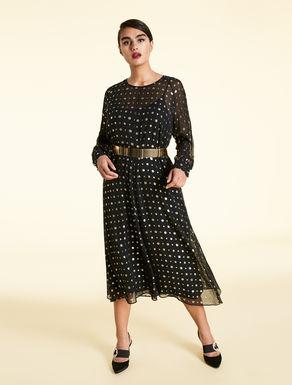Lurex fil coupé dress