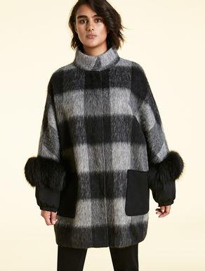 Cappotto in lana effetto strappato