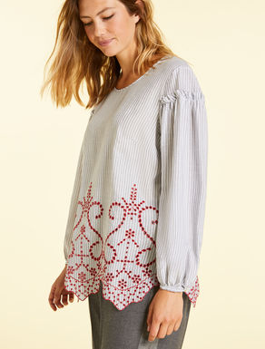 Embroidered viscose blouse