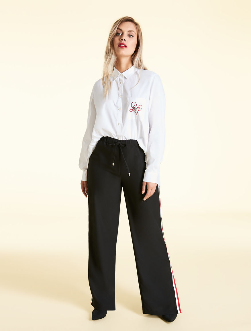 Crepe envers satin trousers