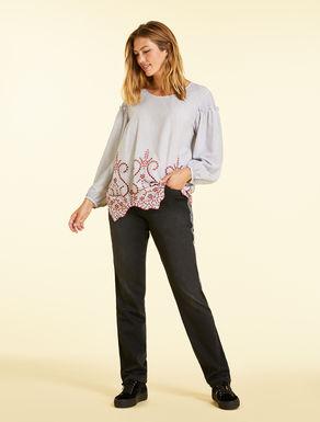 Jeans in denim felpa