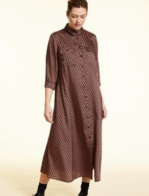 Twill shirt dress