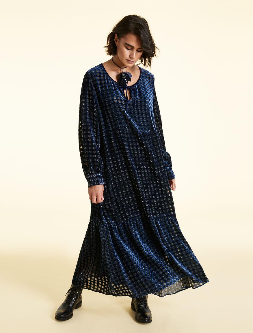 Devore velvet dress