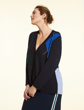 Viscose and cashmere cardigan