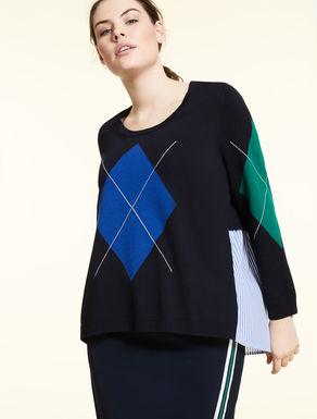Viscose and cashmere jumper