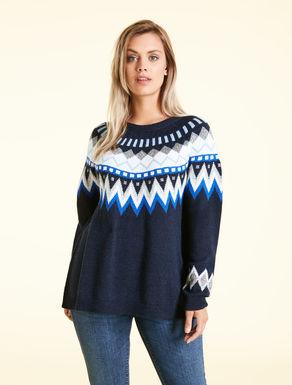 Alpaca-blend jacquard jumper