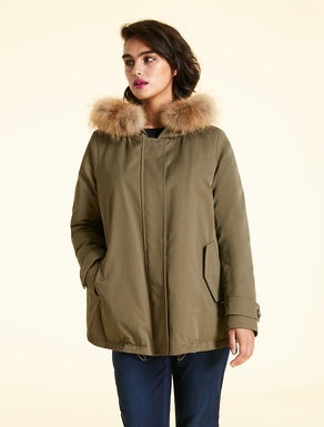 Cotton gabardine down jacket