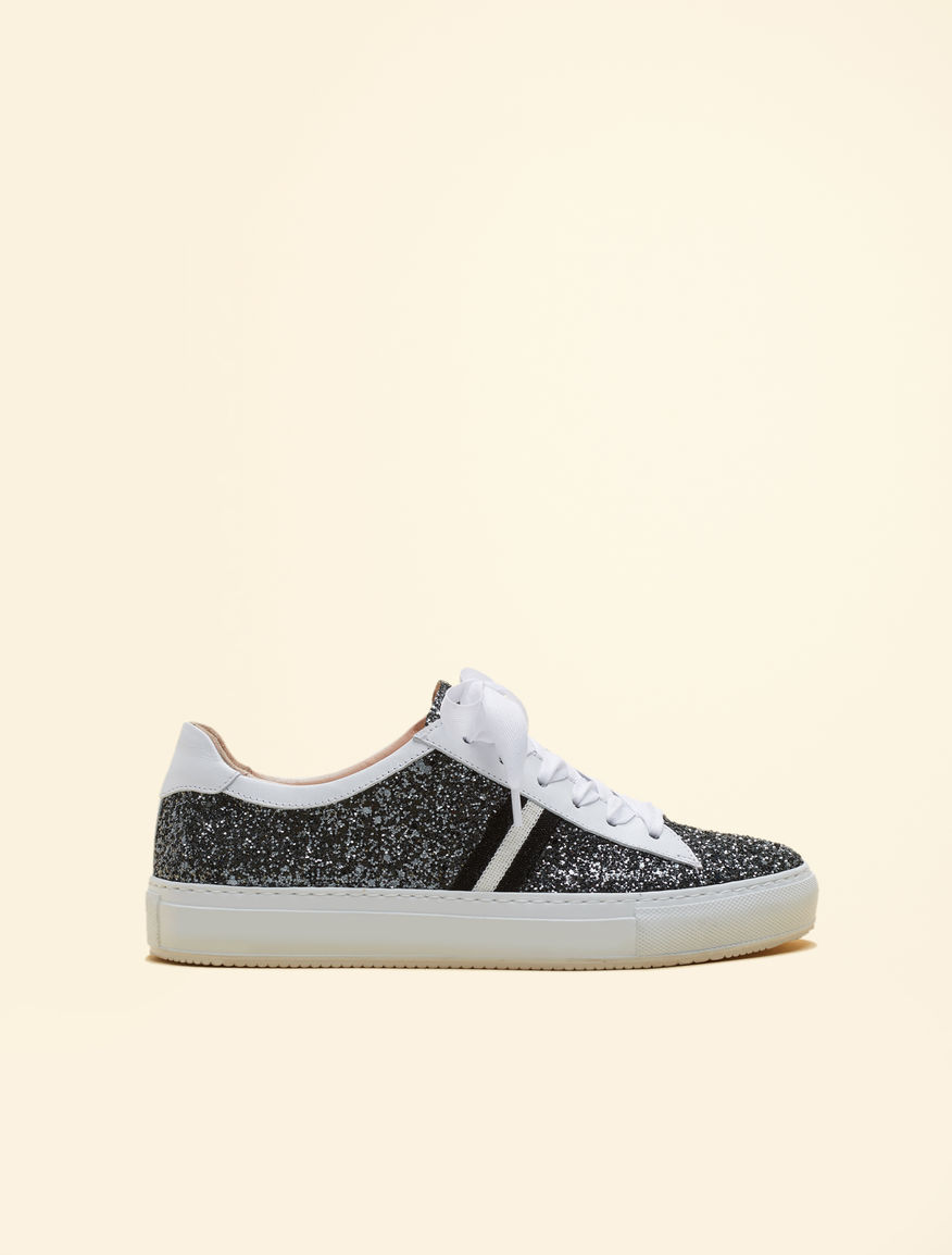 aac7338fe7d0a Glitter trainers, white -