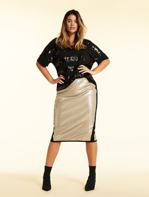 Sequinned skirt