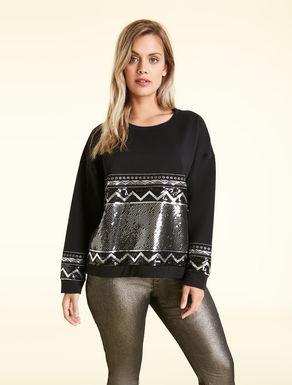 Cotton stretch sweatshirt