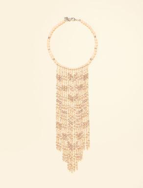 Collier avec perles et cristaux