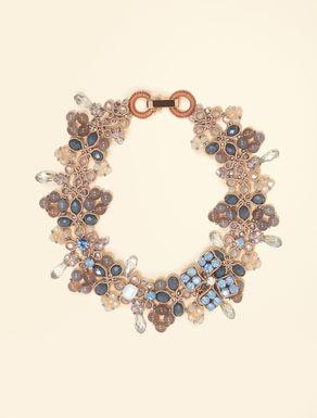 Kristall- und Stein-Halskette