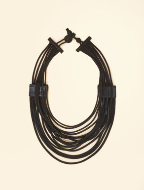 Multi-strand leather necklace