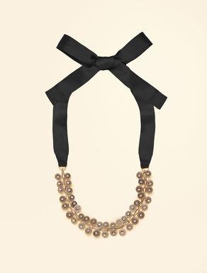 Halskette aus Metall mit Strasssteinen