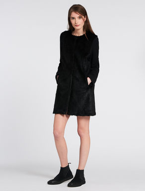 Jacquard fabric coat