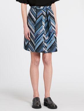 A-line chevron jacquard skirt
