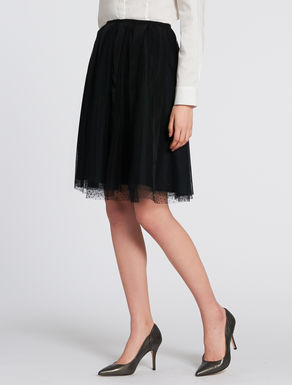Gros-grain and tulle skirt