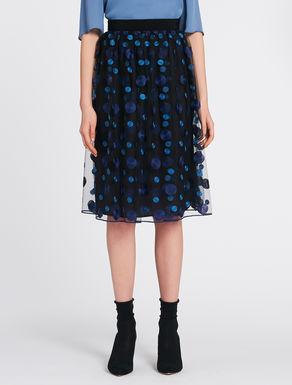 Polka dot embroidered tulle skirt